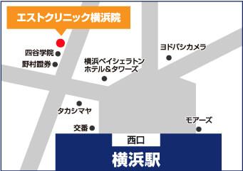 エストクリニック横浜院 地図